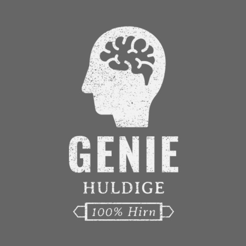 Genie, huldige, 100% Hirn - Men's Premium T-Shirt