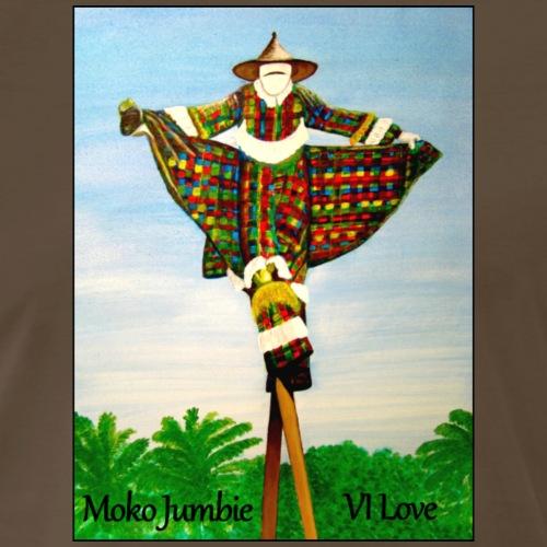 Moko Jumbie - VI Love - Men's Premium T-Shirt