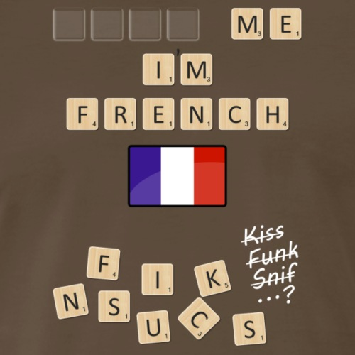 Scrabble me I'm French - White version - Men's Premium T-Shirt