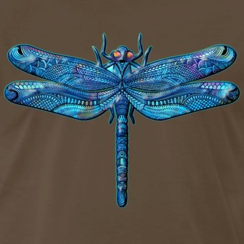 Dragonfly Tattoo Iridescent* Abstract Blue - Men's Premium T-Shirt