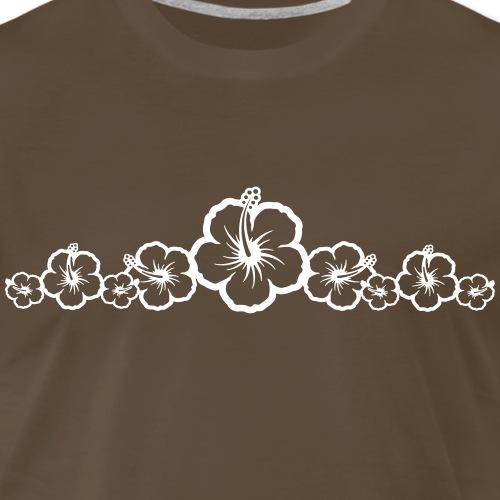 White Hibiscus Flowers Group - Hawaiian Surf - Men's Premium T-Shirt