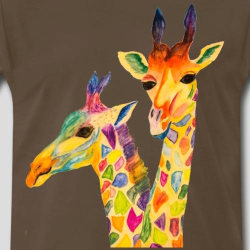 Three Curious Girafes - Men's Premium T-Shirt