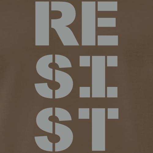 RESIST vertical bold - Men's Premium T-Shirt