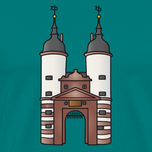 Bridge gate Heidelberg, FRG - Men's Premium T-Shirt