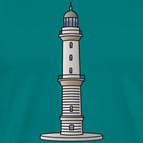 Lighthouse Warnemünde Rostock - Men's Premium T-Shirt