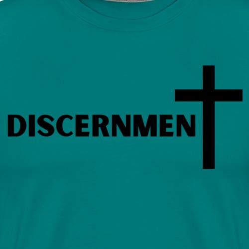 Discernment with CROSS - Men's Premium T-Shirt