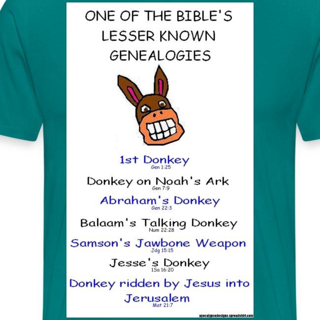 donkey genealogy tshirt