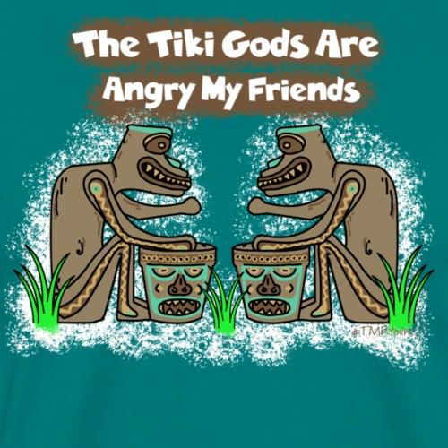 Angry Tiki Gods - Men's Premium T-Shirt