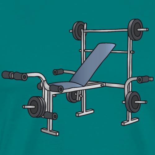 Weight bench, bodybuilding, workout - Men's Premium T-Shirt