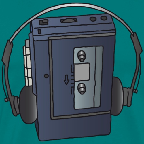 WALKMAN cassette recorder - Men's Premium T-Shirt