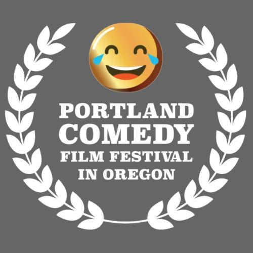 Portland Comedy Film Festival White Logo - Men's Premium T-Shirt