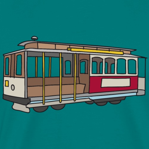 San Francisco Cable Car - Men's Premium T-Shirt