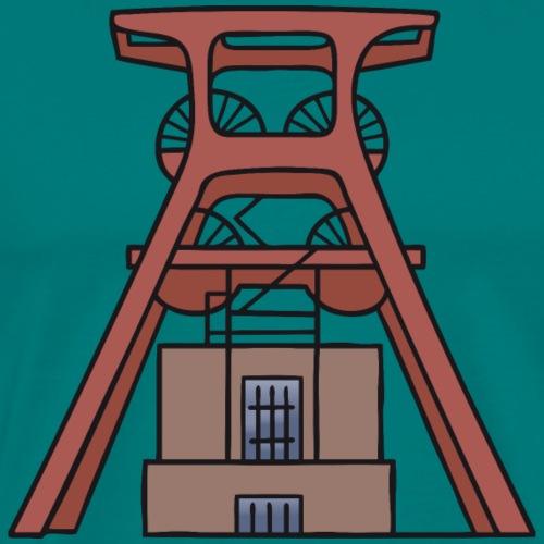Zollverein Coal Mine Industrial Complex in Essen - Men's Premium T-Shirt