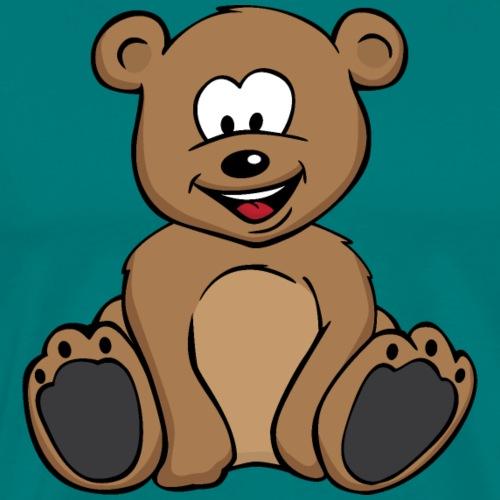 Cute Teddy Bear Cartoon - Men's Premium T-Shirt