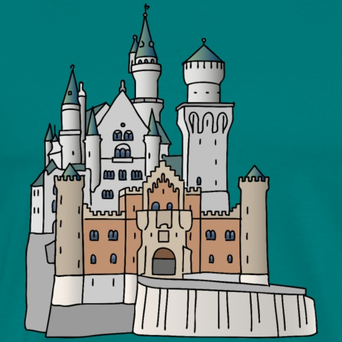 Neuschwanstein Castle, Bavaria - Men's Premium T-Shirt