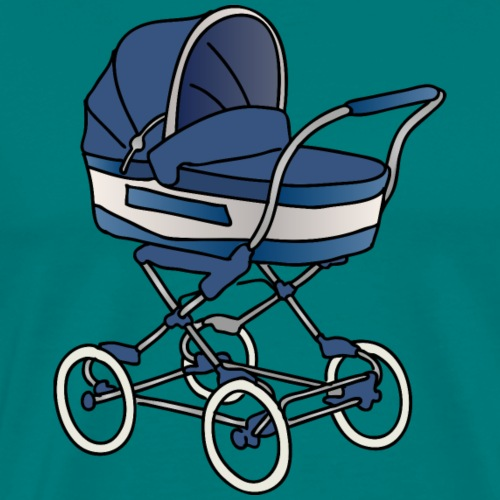 Baby stroller / buggy (blue) - Men's Premium T-Shirt