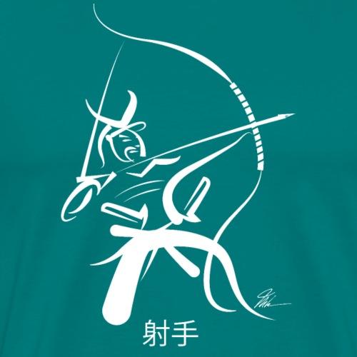 Samurai Archer - WHT - Men's Premium T-Shirt