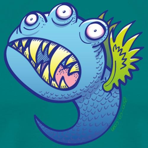 Winged little blue monster - Men's Premium T-Shirt