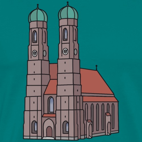 Munich Frauenkirche - Men's Premium T-Shirt