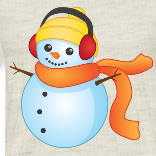 Snowman Orange Scarf - Men's Premium T-Shirt