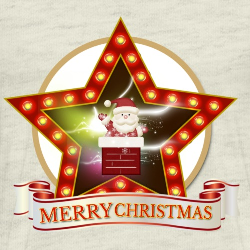 Merry Christmas Santa Chimney Star - Men's Premium T-Shirt