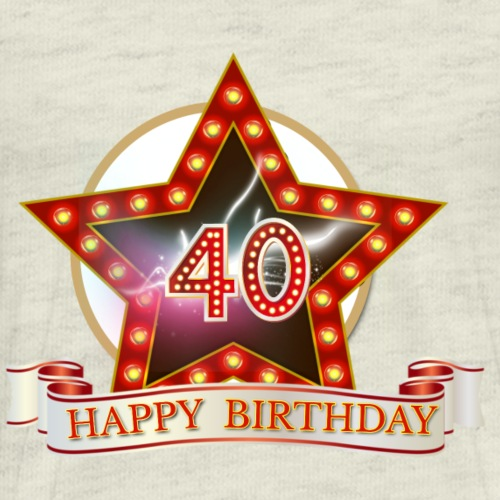 40th Birthday Star - Men's Premium T-Shirt