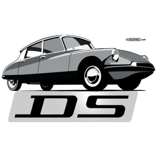 Citroën DS script emblem and illustration