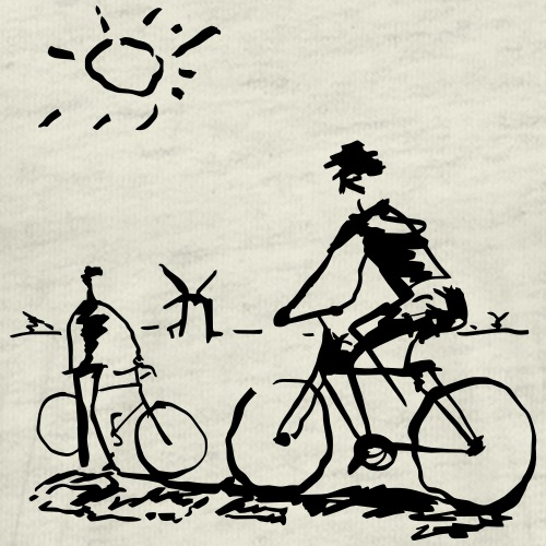 Bicycle Bicycling Picasso - Men's Premium T-Shirt