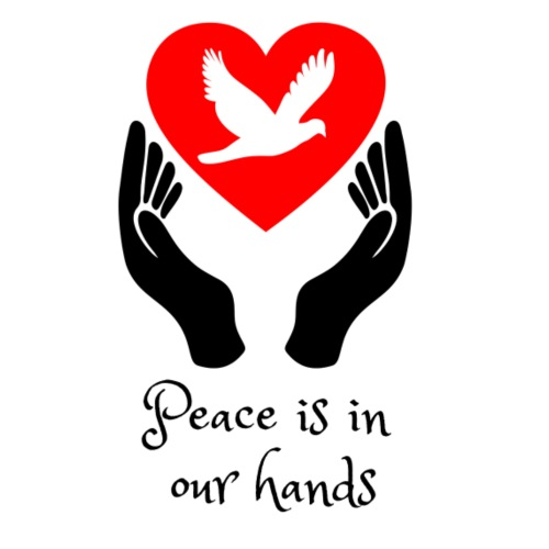 Peace is in our hands - Men's Premium T-Shirt