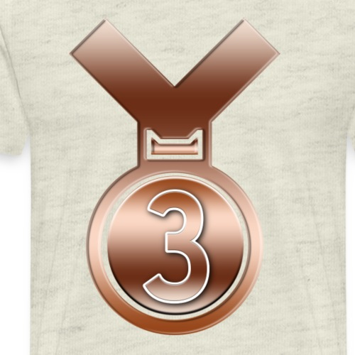 3rd Place Bronze achievement award medal - Men's Premium T-Shirt