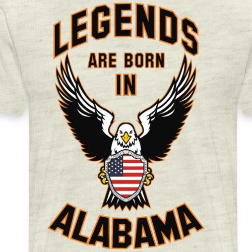 Legends are born in Alabama - Men's Premium T-Shirt