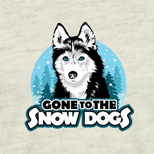 Gone to the Snow Dogs - Siberian Husky - Men's Premium T-Shirt