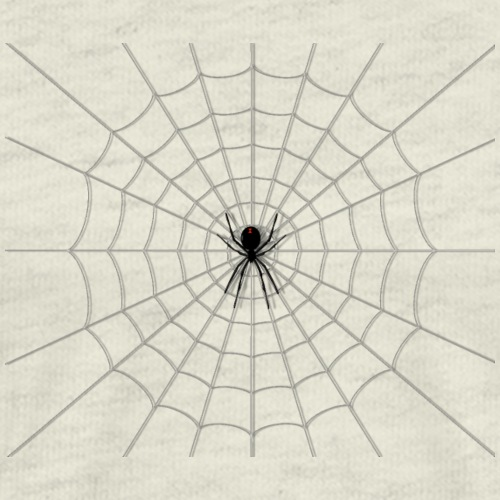 Black Widow on Web - Men's Premium T-Shirt