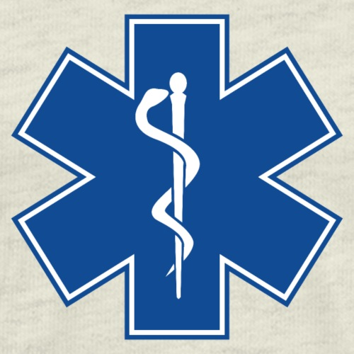 EMT Health Care Rod of Asclepius Medical Symbol - Men's Premium T-Shirt