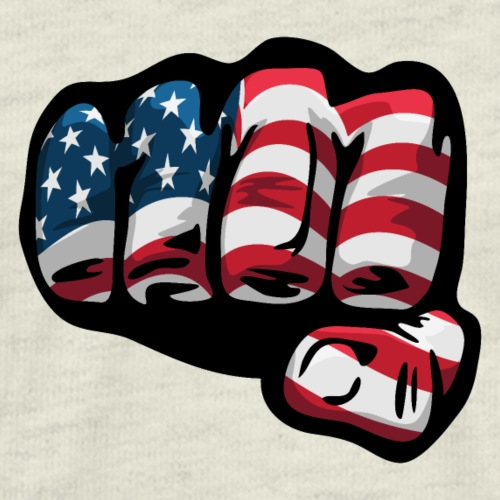 American Flag Fist - Men's Premium T-Shirt