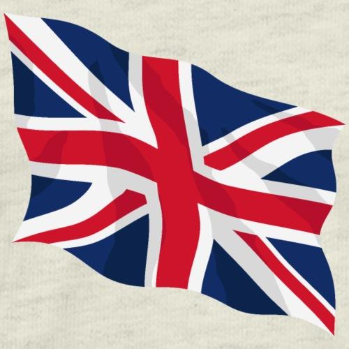 United Kingdom Waving Flag Illustration - Men's Premium T-Shirt