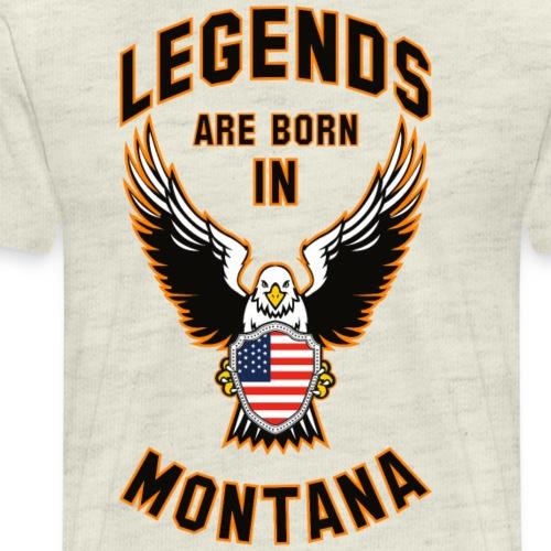 Legends are born in Montana - Men's Premium T-Shirt