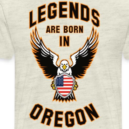 Legends are born in Oregon - Men's Premium T-Shirt