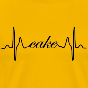 Cake ECG heartbeat - Men's Premium T-Shirt