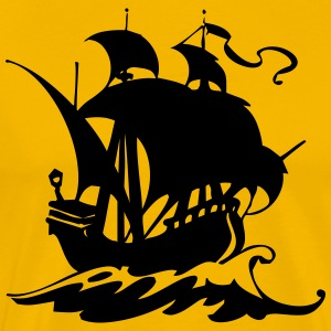 Pirate ship silhuette 2 - Men's Premium T-Shirt