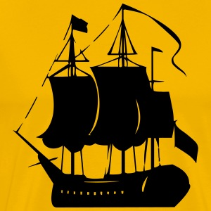Pirate old ship - Men's Premium T-Shirt