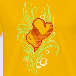 Flower with Hearts - Men's Premium T-Shirt