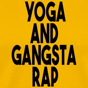 Yoga and Gangsta Rap - Men's Premium T-Shirt