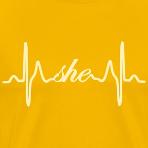 She ECG Heartbeat - Men's Premium T-Shirt