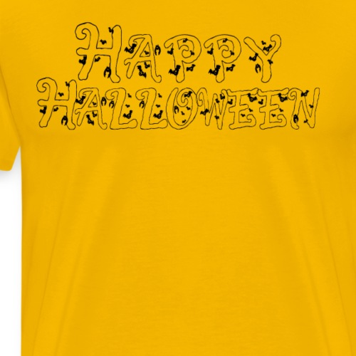 Bats Happy Halloween T Shirt - Men's Premium T-Shirt