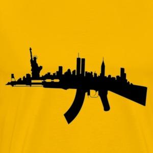 NY AK Skyline - Men's Premium T-Shirt