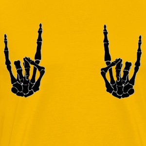 Metal horns up! - Men's Premium T-Shirt
