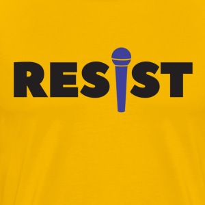 resist vocalist - Men's Premium T-Shirt