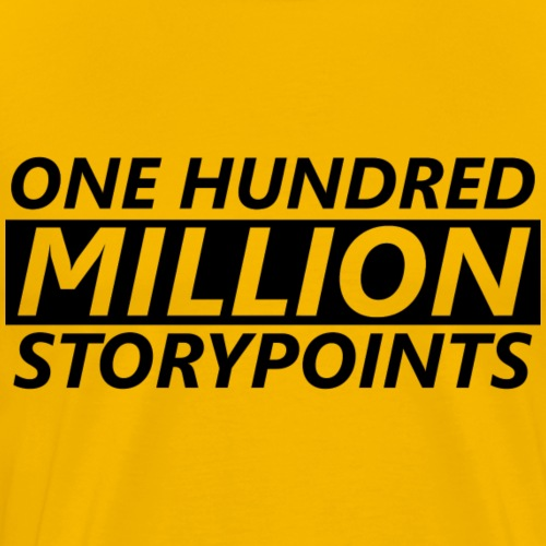 ONE HUNDRED MILLION STORYPOINTS - Men's Premium T-Shirt
