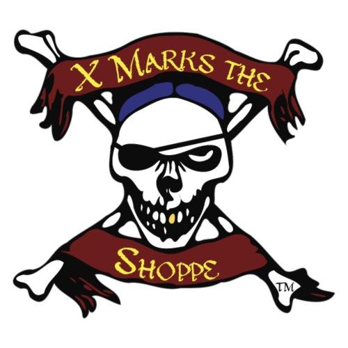 X Marks the Shoppe, Skull and Crossbones logo - Men's Premium T-Shirt